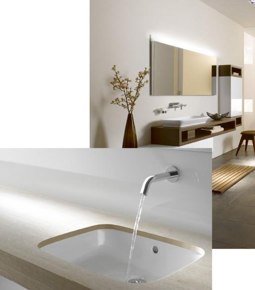 Warme und moderne Badezimmer