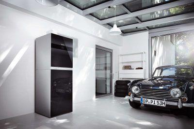 Moderne Heizung in moderner Garage